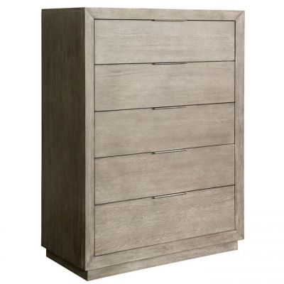 Riverside Furniture Zoey Urban Gray Five Drawer Chest
