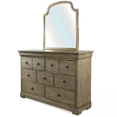 Riverside Louis Farmhouse Antique Oak Mirror