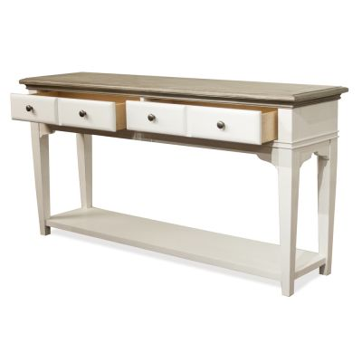 Myra Sofa Table in Natural and Paperwhite Lyndhurst