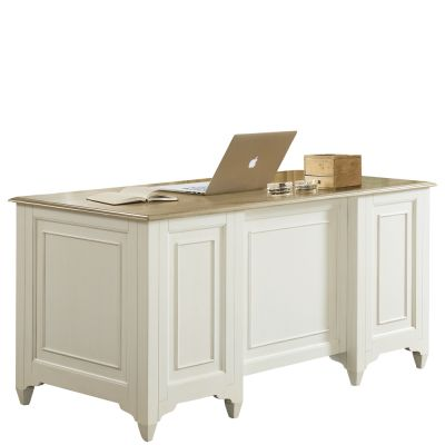 Myra Natural/PaperWhite Executive Desk