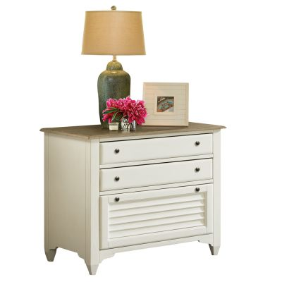 Myra Lateral Natural/PaperWhite File Cabinet