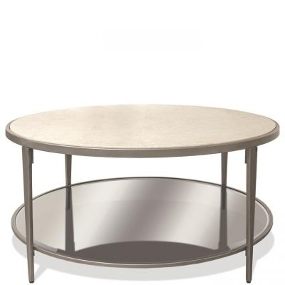 Riverside Wilshire White Sands Round Coffee Table