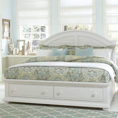 Liberty Furniture Summer House I White Queen Storage Bed
