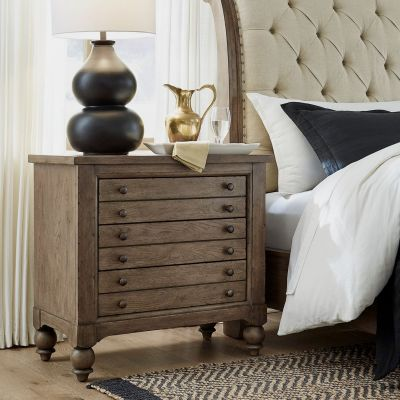 Liberty American Farmhouse Bedside Chest with Charging Station