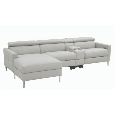 Beryl 4-Piece Power^2 Sectional Light Grey Old Tappan a