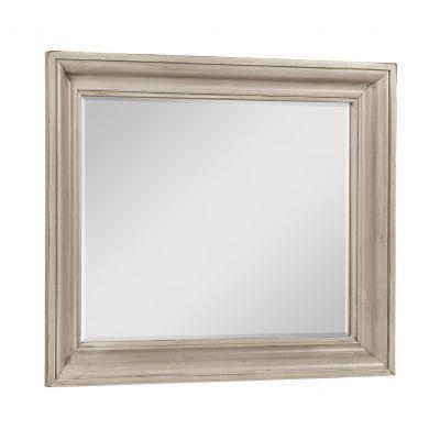 Vaughan Bassett Rustic Hills Shadowbox Dresser Mirror in Spiced Cream
