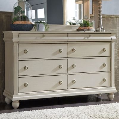 Liberty Furniture Rustic Traditions II White Dresser