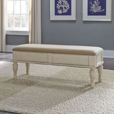 Liberty Furniture Rustic Traditions II White Bed Bench