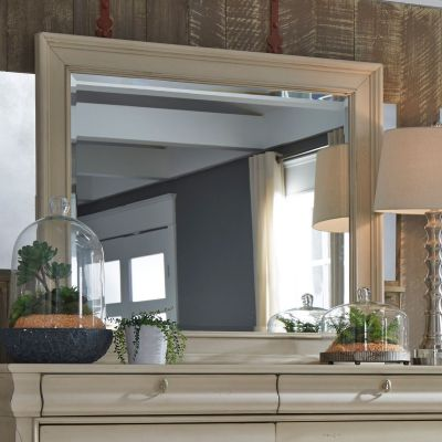 Liberty Furniture Rustic Traditions II White Landscape Dresser Mirror