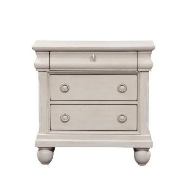 Liberty Furniture Rustic Traditions II White Nightstand