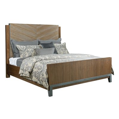 American Drew AD Modern Synergy Maple Chevron Maple Queen Bed