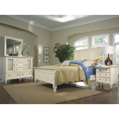 Ashby Patina White Panel bedroom Set