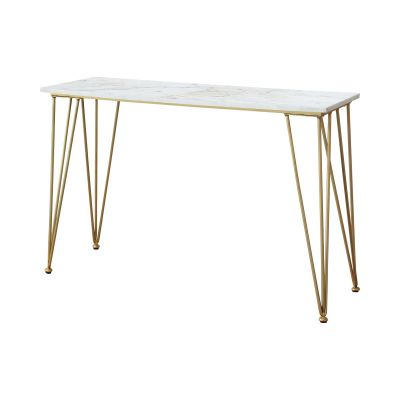 Becca Sofa Table With Marble Top White And Polished Brass Ramsey