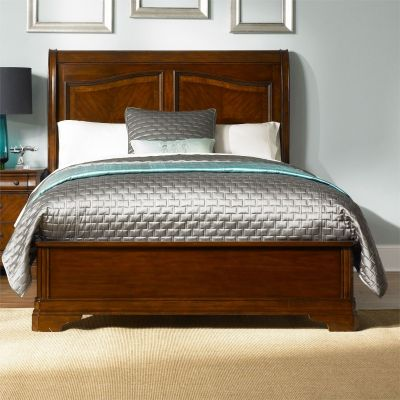 Alexandria Cherry Sleigh Bed