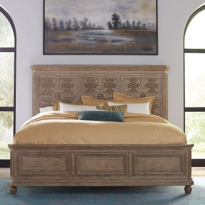 Liberty Furniture The Laurels Carved Panel Bed