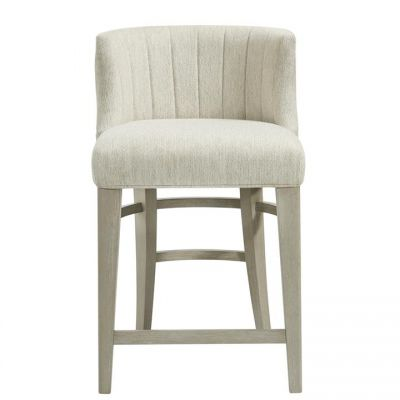 Riverside Cascade Dovetail Upholstered Curved Back Counter Stool Set of 2