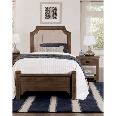 Vaughan Bassett Bungalow Twin Upholstered Bed in Folkstone