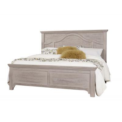 Vaughan Bassett Bungalow Queen Mantel Bed Bungalow in Dover Gray