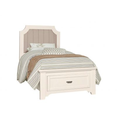Vaughan Bassett Bungalow Twin Upholstered Storage Bed in Lattice