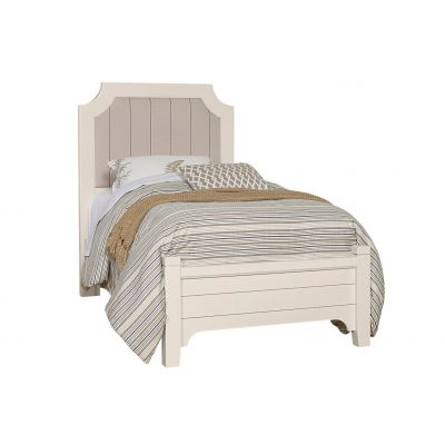 Vaughan Bassett Bungalow Twin Upholstered Bed in Lattice