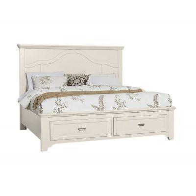 Vaughan Bassett Bungalow Queen Mantel Storage Bed Bungalow in Lattice