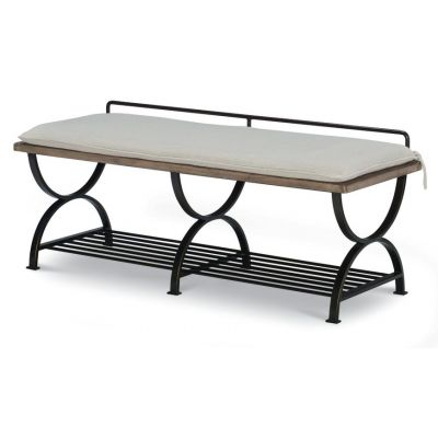 Legacy Classic Monteverdi By Rachael Ray Sun Bleached Cypress Bed Bench and Luggage Rack