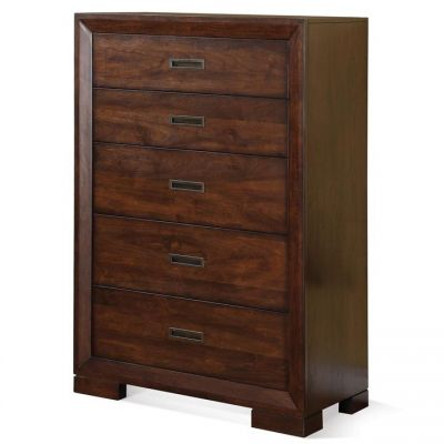 Riata Warm Walnut Five Drawer Chest