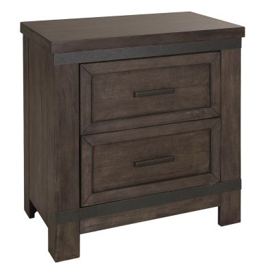 Liberty Furniture Thornwood Hills Two Drawer Nightstand