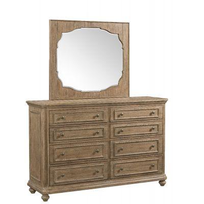 Madison Landsape Mirror-Natural Teaneck