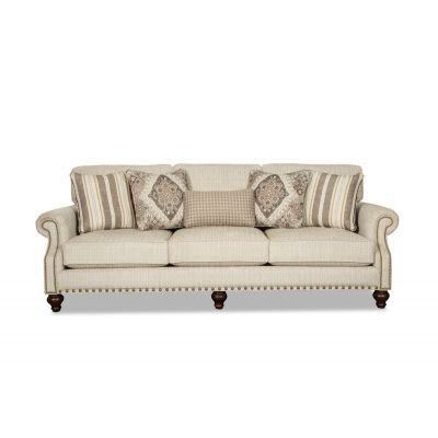 Dulera 100 Inch Traditional Three Seater Sofa Couch