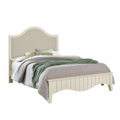 Vaughan Bassett Casual Retreat Full Upholstered Bed in Shell White