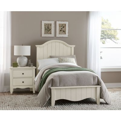 Vaughan Bassett Casual Retreat Twin Arch Bed in Shell White
