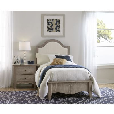 Vaughan Bassett Casual Retreat Twin Upholstered Bed in Driftwood