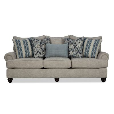 Tolliver Traditional Style Three seater Sofa couch
