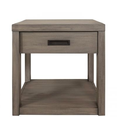 Riverside Riata Gray Wash Side Table