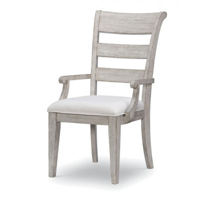 Legacy Classic Belhaven Weathered Plank Ladder Back Arm Chair
