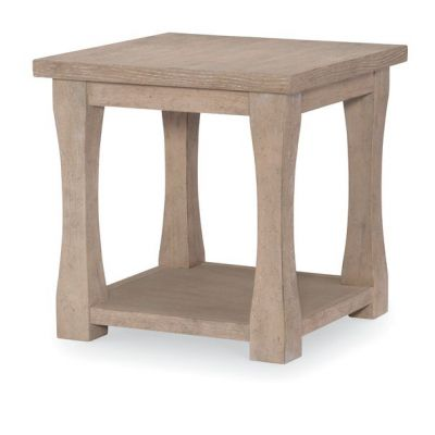 Legacy Classic Milano By Rachael Ray Home Sand Stone Leg End Table