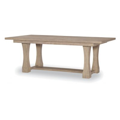 Legacy Classic Milano By Rachael Ray Home Sand Stone Rectangle Trestle Table