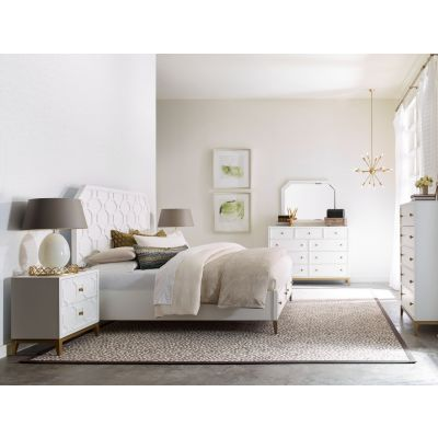 Legacy Classic Chelsea By Rachael Ray White And Soft Gold Bedroom Set