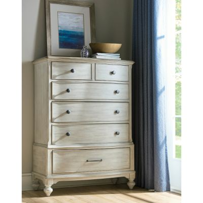 American Drew Litchfield White Carrick Drawer Chest