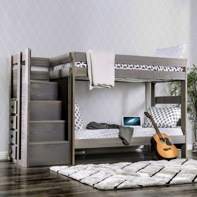 Ampelios Twin over Twin Bunk Bed Closter