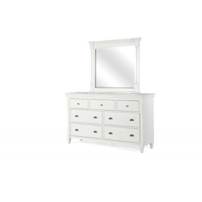Kasey White Dresser Mirror