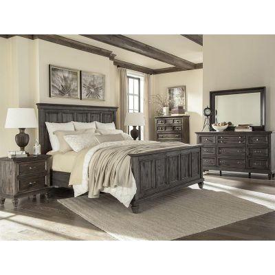 Calistoga Charcoal Panel Bedroom Set