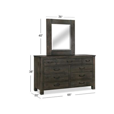 Abington Charcoal Portrait Dresser Mirror