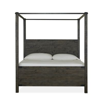 Abington Charcoal Queen Poster bed