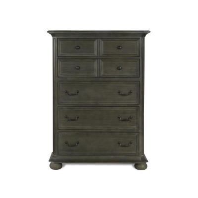 Cheswick Washed Linen Grey Drawer Chest