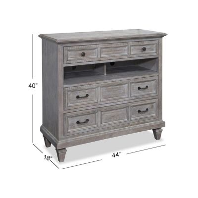 Lancaster Dovetail Grey Media Chest