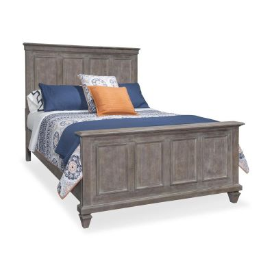 Lancaster Dovetail Grey Panel Queen Bed