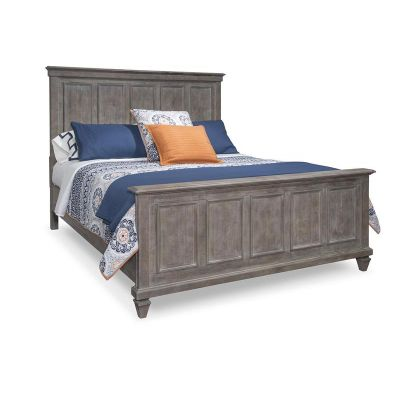 Lancaster Dovetail Grey Panel Cal.King Bed