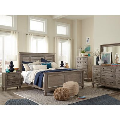 Lancaster Dovetail Grey Shutter Panel Bedroom Set